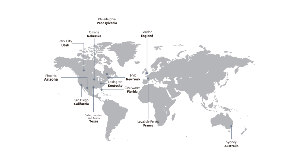 Nearhoring Services - World Map