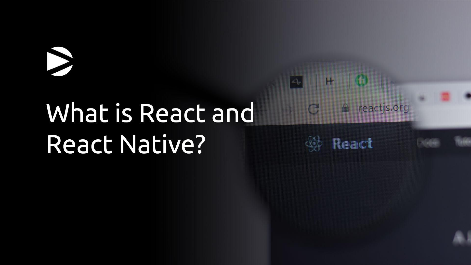 DNAMIC - React and React Native - React Logo on a screen